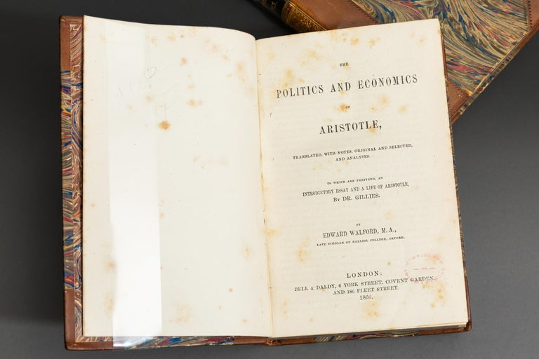 Mid-19th Century Edward Walford and R.W. Browne, Aristotle's Politics, Economics and Ethics