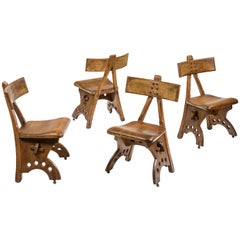 Edward Welby Pugin, Four Granville chairs, 1870