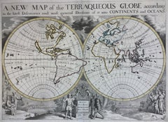 New Map of the Terraqueous Globe - WORLD MAP - CALIFORNIA AS AN ISLAND