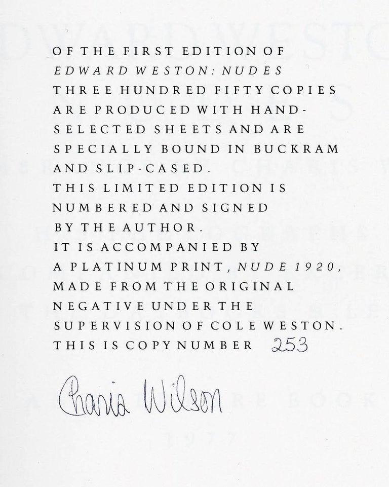 Nude (1920) along with Edward Weston Nudes: His Photographs (book)   For Sale 2