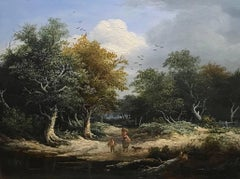 A Pair of English Landscapes Genre paintings Victorian by Edward Williams
