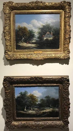 A Pair of English Landscapes, Genre scenes