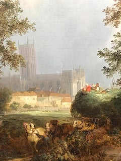 Landscape with Cathedral, An English 19th Century Landscape