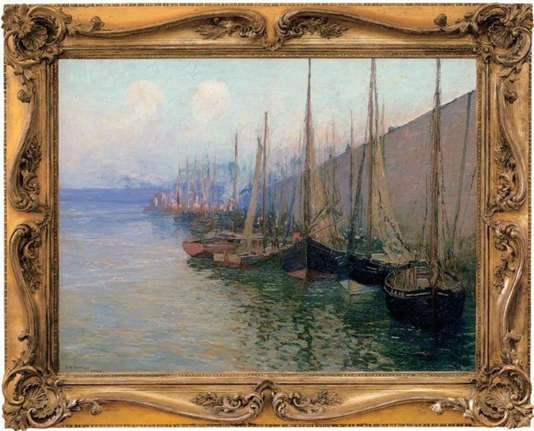 "Edward Willis Redfield Landscape Painting - ""In Port"""