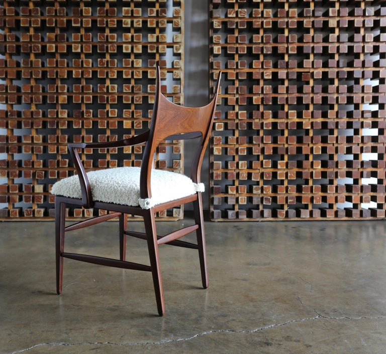 Edward Wormley 5580 Dining Chairs for Dunbar, 1950s In Good Condition For Sale In Costa Mesa, CA