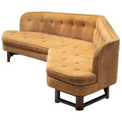 Edward Wormley Angled 'Janus' Sofa in Yellow Fabric