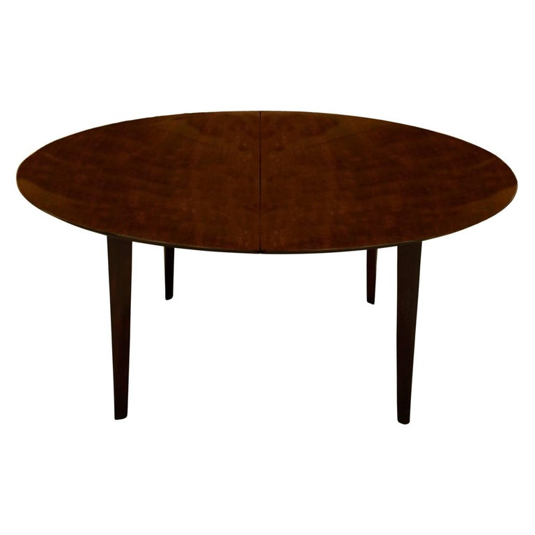 Mid-Century Modern Edward Wormley Angular Leg Walnut Dining Table, 1950s 'Signed' For Sale