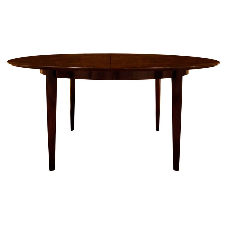 American Edward Wormley Angular Leg Walnut Dining Table, 1950s 'Signed' For Sale