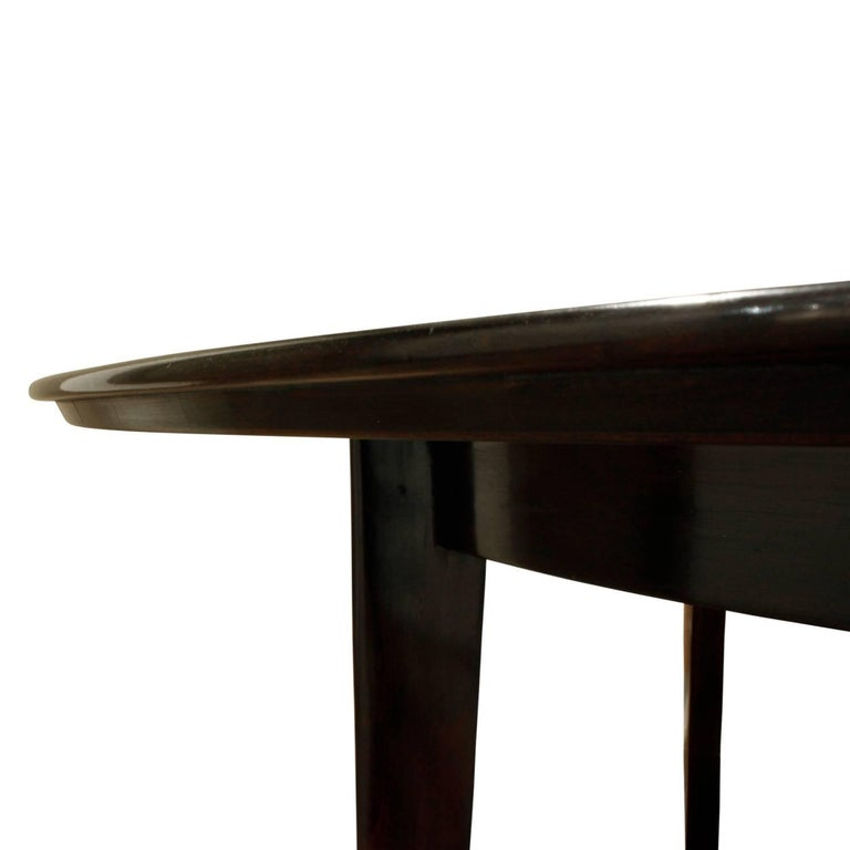 Hand-Crafted Edward Wormley Angular Leg Walnut Dining Table, 1950s 'Signed' For Sale