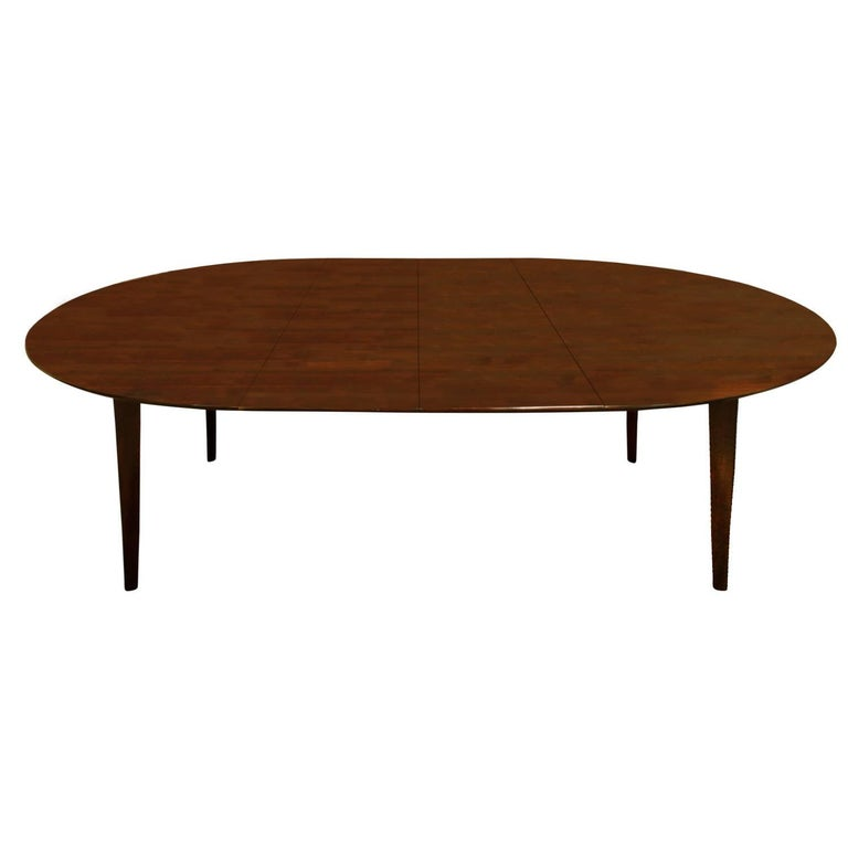 Edward Wormley Angular Leg Walnut Dining Table, 1950s 'Signed' For Sale