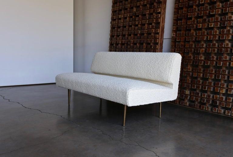Edward Wormley Armless Sofa for Dunbar, circa 1955 For Sale 3