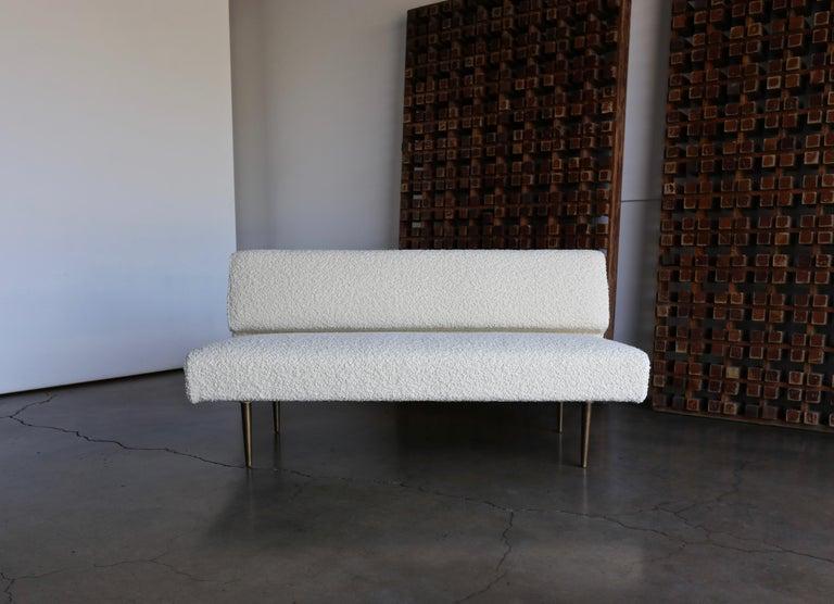 Mid-Century Modern Edward Wormley Armless Sofa for Dunbar, circa 1955 For Sale