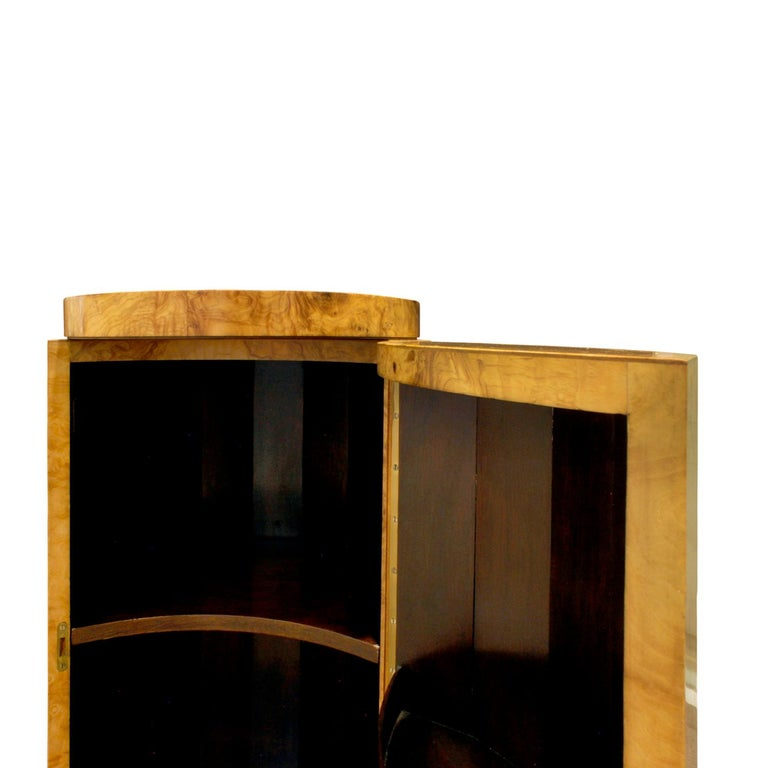 Mid-20th Century Edward Wormley Beautiful Pedestal Cabinet in Olive Burl, 1963 For Sale