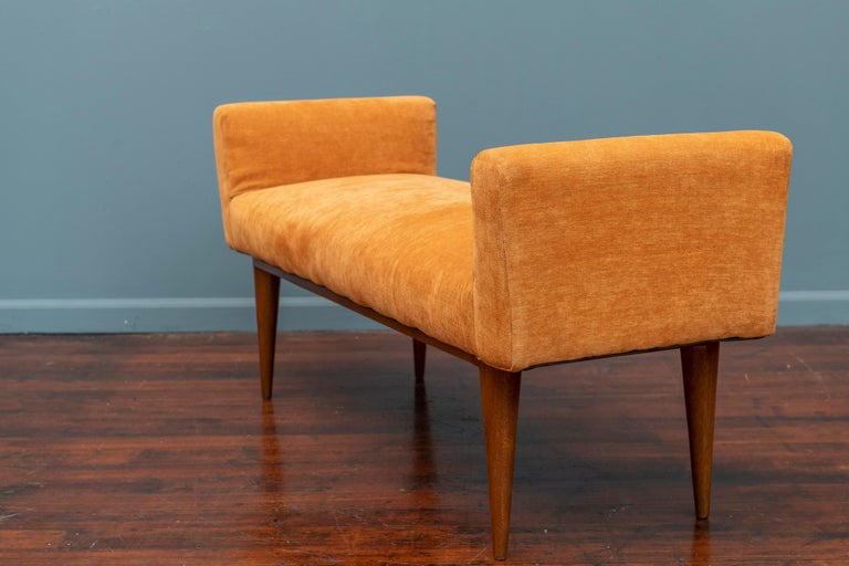 Upholstery Edward Wormley Bench for Dunbar For Sale