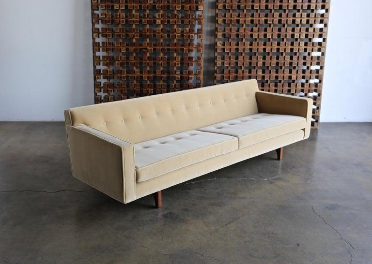 Mid-Century Modern Edward Wormley Bracket Back Sofa for Dunbar, circa 1955 For Sale