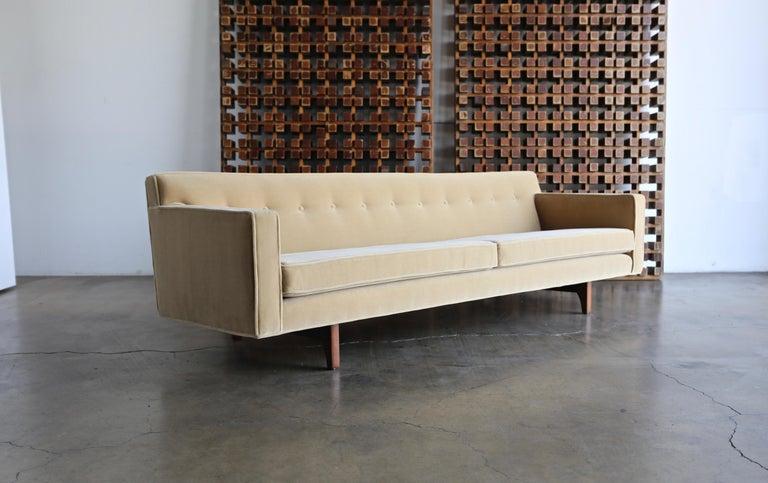 20th Century Edward Wormley Bracket Back Sofa for Dunbar, circa 1955 For Sale