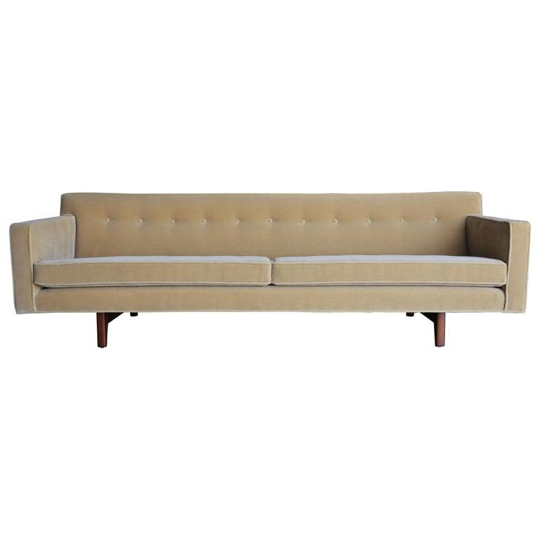 Edward Wormley Bracket Back Sofa for Dunbar, circa 1955 For Sale