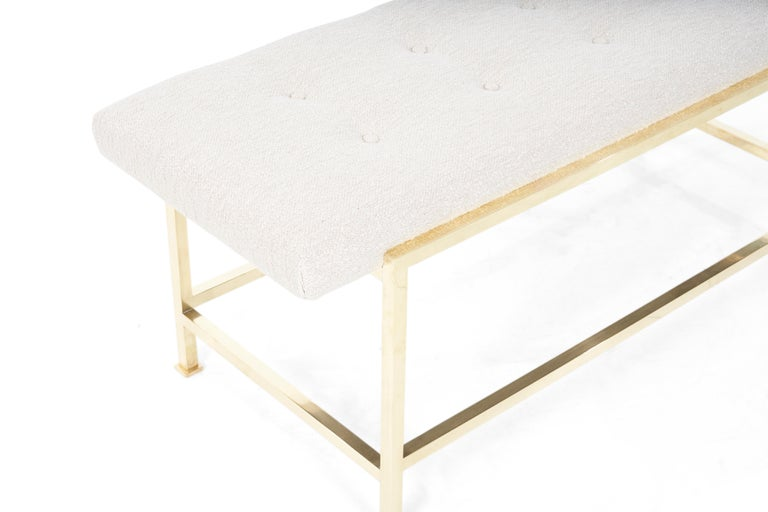 American Edward Wormley Brass Bench For Sale