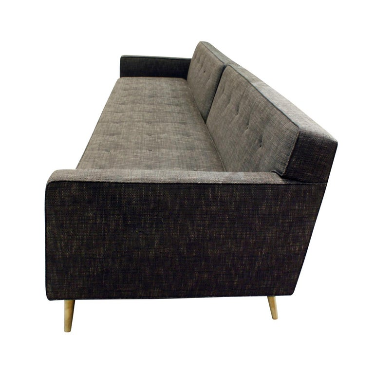 Mid-Century Modern Edward Wormley Clean-Line Sofa with Conical Brass Legs 1951 For Sale