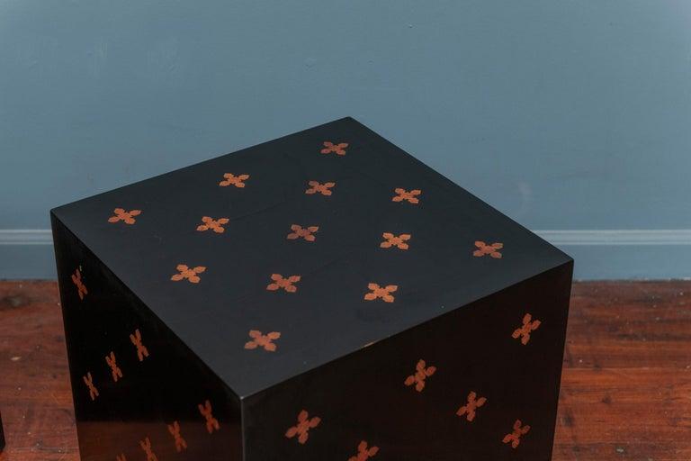 Mid-Century Modern Edward Wormley Design Cube Tables for Dunbar For Sale
