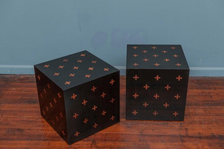 American Edward Wormley Design Cube Tables for Dunbar For Sale