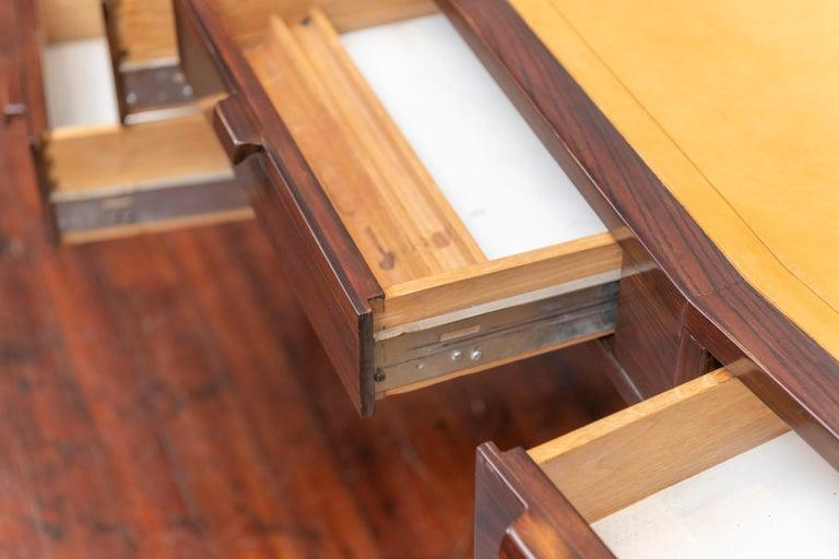 Leather Edward Wormley Desk for Dunbar For Sale