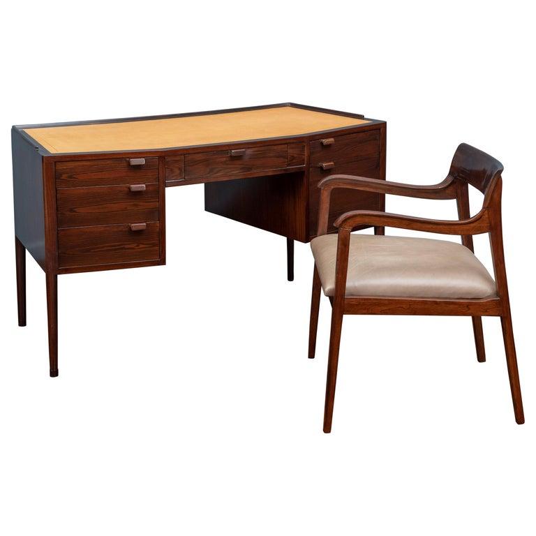 Edward Wormley Desk for Dunbar For Sale