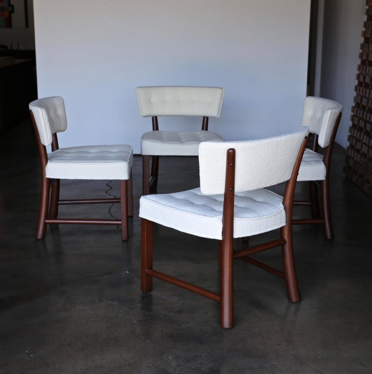 Edward Wormley Dining Chairs for Dunbar, circa 1957 For Sale 4