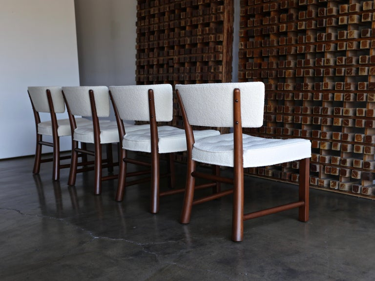 Edward Wormley Dining Chairs for Dunbar, circa 1957 For Sale 5