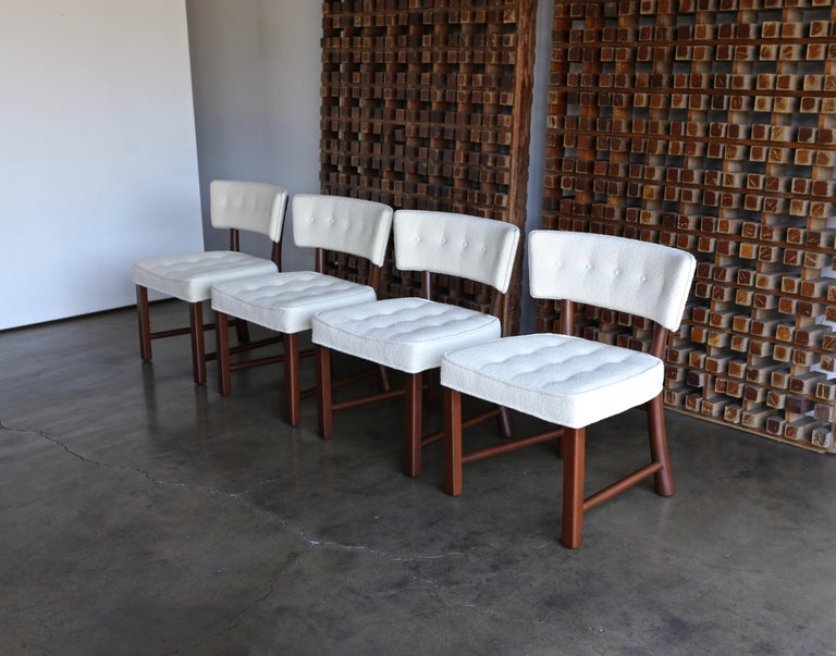 Mid-Century Modern Edward Wormley Dining Chairs for Dunbar, circa 1957 For Sale