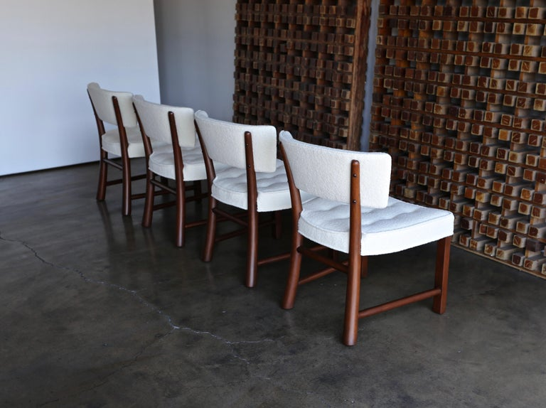 American Edward Wormley Dining Chairs for Dunbar, circa 1957 For Sale