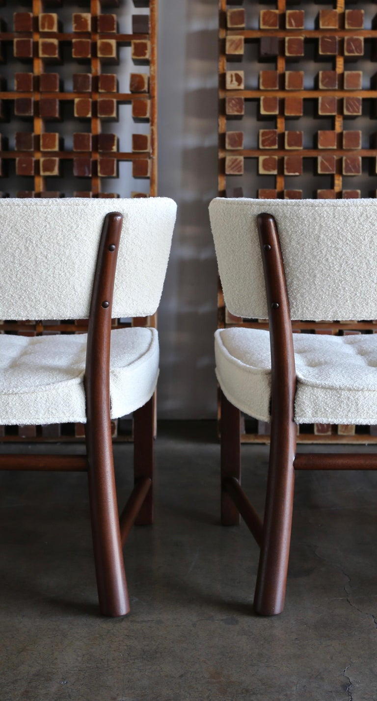 Stained Edward Wormley Dining Chairs for Dunbar, circa 1957 For Sale