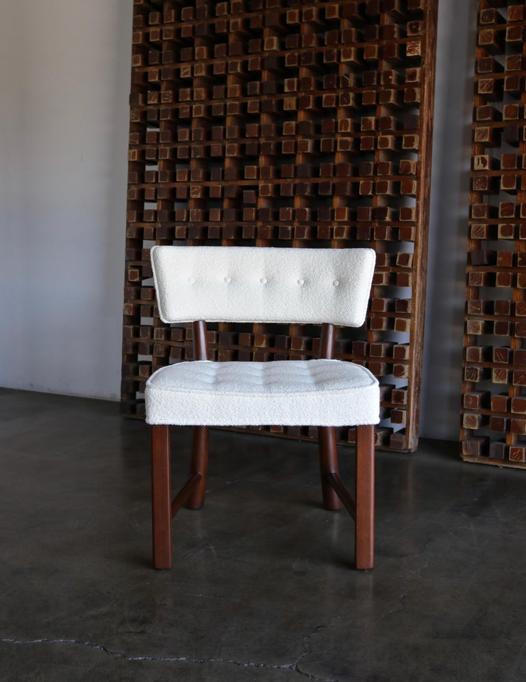 20th Century Edward Wormley Dining Chairs for Dunbar, circa 1957 For Sale