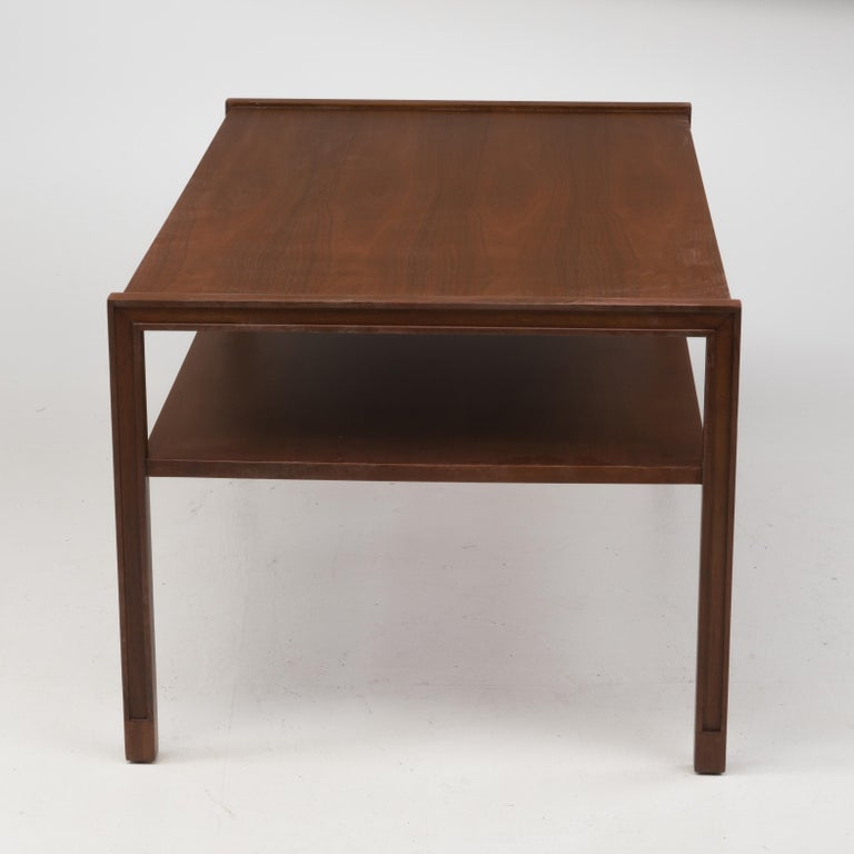 Mid-Century Modern Edward Wormley Dunbar Coffee Cocktail Table 1960s Marked Brass Tag For Sale