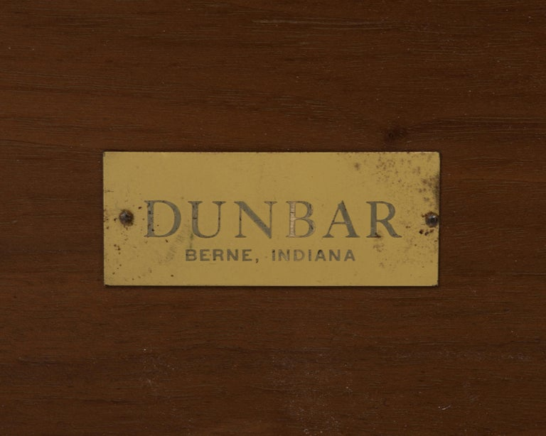 Mid-20th Century Edward Wormley Dunbar Coffee Cocktail Table 1960s Marked Brass Tag For Sale