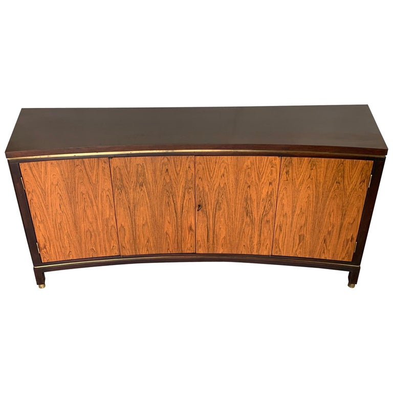 Edward Wormley Dunbar Custom Credenza Rosewood Curved Front For Sale