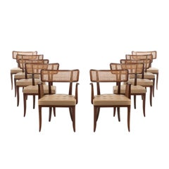 Edward Wormley for Dunbar Dining Chairs, Set of 10