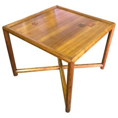 Edward Wormley Dunbar End Side Table with Gertrud and Otto Natzler Ceramic Tiles