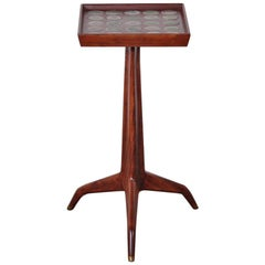 Edward Wormley Dunbar Janus Side Table with Natzler Tiles