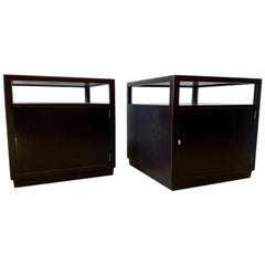 Edward Wormley Ebonized Mahogany Side Tables
