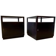 Edward Wormley Ebonized Mahogany Side Tables