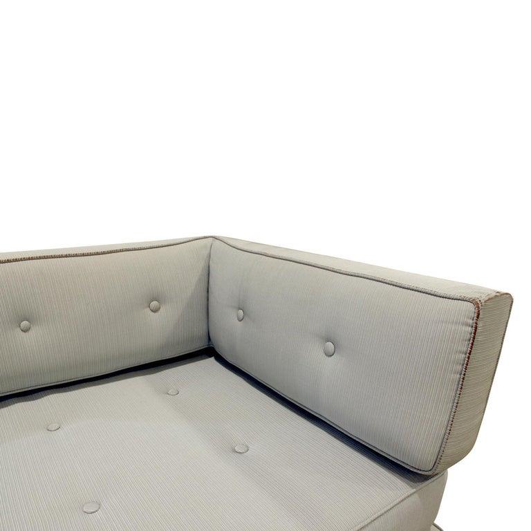 Mid-20th Century Edward Wormley Elegant Sofa Day Bed with Walnut Legs, 1953 For Sale