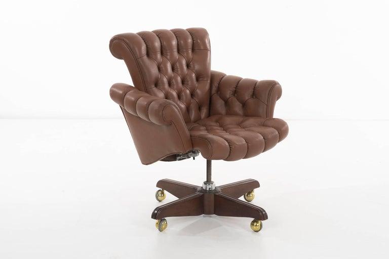 Mid-Century Modern Edward Wormley Executive Office Chair For Sale