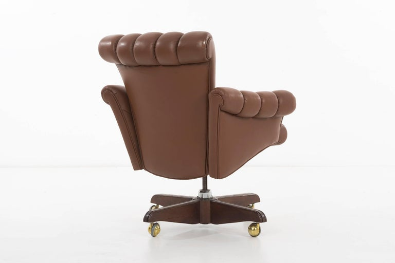 Edward Wormley Executive Office Chair In Excellent Condition For Sale In Chicago, IL