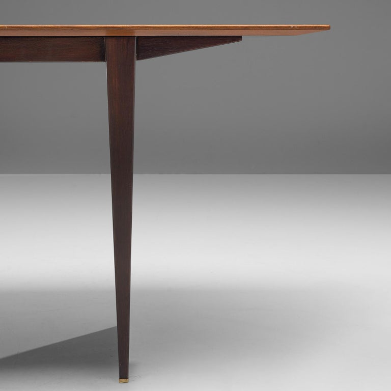 Mid-Century Modern Edward Wormley Extendable Dining Table in Tawi For Sale