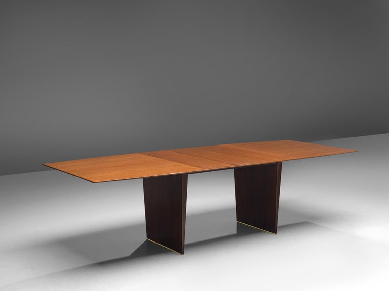 American Edward Wormley Extendable Dining Table in Tawi For Sale