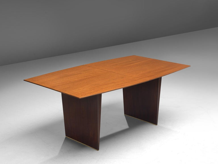 Edward Wormley Extendable Dining Table in Tawi In Good Condition For Sale In Waalwijk, NL