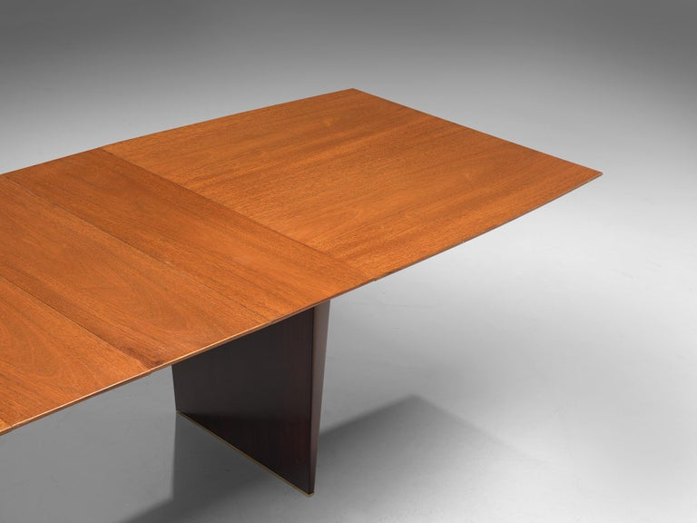 Mid-20th Century Edward Wormley Extendable Dining Table in Tawi For Sale