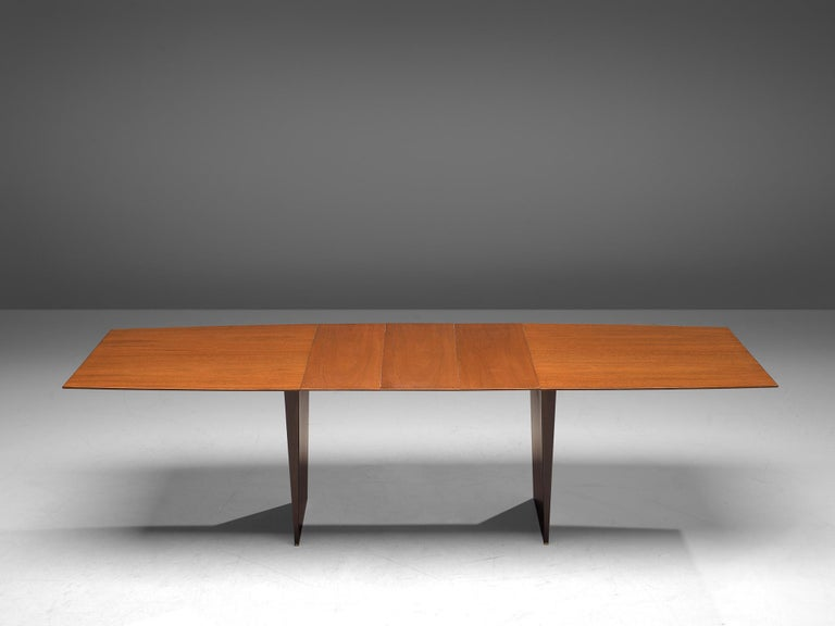 Wood Edward Wormley Extendable Dining Table in Tawi For Sale