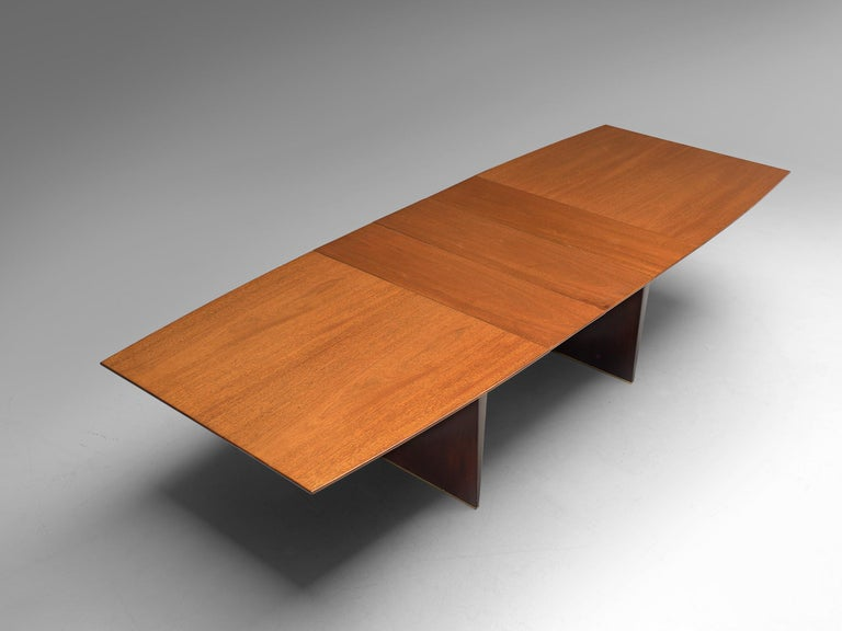 Edward Wormley Extendable Dining Table in Tawi For Sale 2